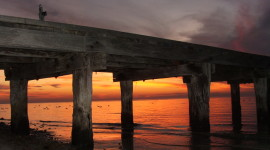 Pier Sunsets Photo Free