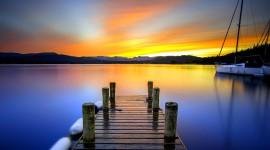 Pier Sunsets Wallpaper Download