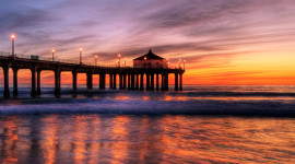 Pier Sunsets Wallpaper For IPhone