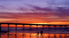 Pier Sunsets Wallpaper For PC