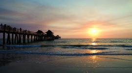 Pier Sunsets Wallpaper Free