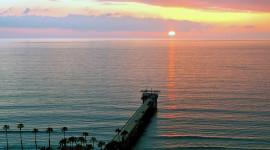 Pier Sunsets Wallpaper Full HD