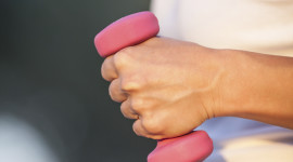 Pink Dumbbells Wallpaper For IPhone Free