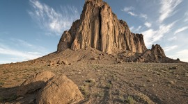 Shiprock Sunsets Desktop Wallpaper