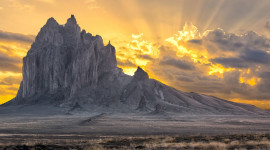 Shiprock Sunsets Wallpaper For IPhone
