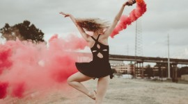 Smoke Dance Wallpaper