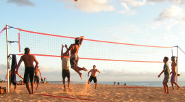 Volleyball Beach Wallpaper For PC