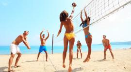 Volleyball Beach Wallpaper Full HD