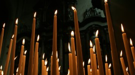 Church Candle Wallpaper Background
