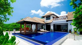 Villa With Pool Wallpaper Download Free