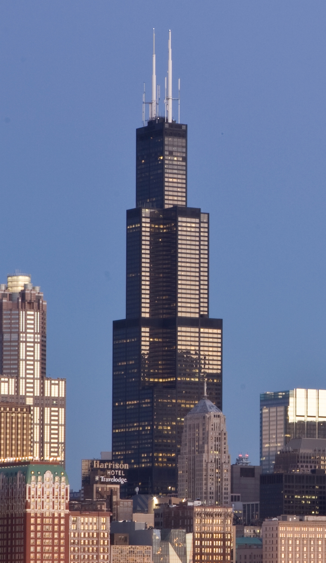 tower willis sears chicago building airlines united tallest illinois towers architecture sun times headquarters states usa construction formerly famous continental