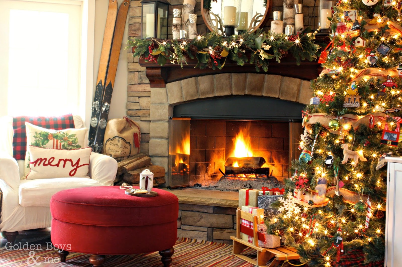 Рождество с камином картинки