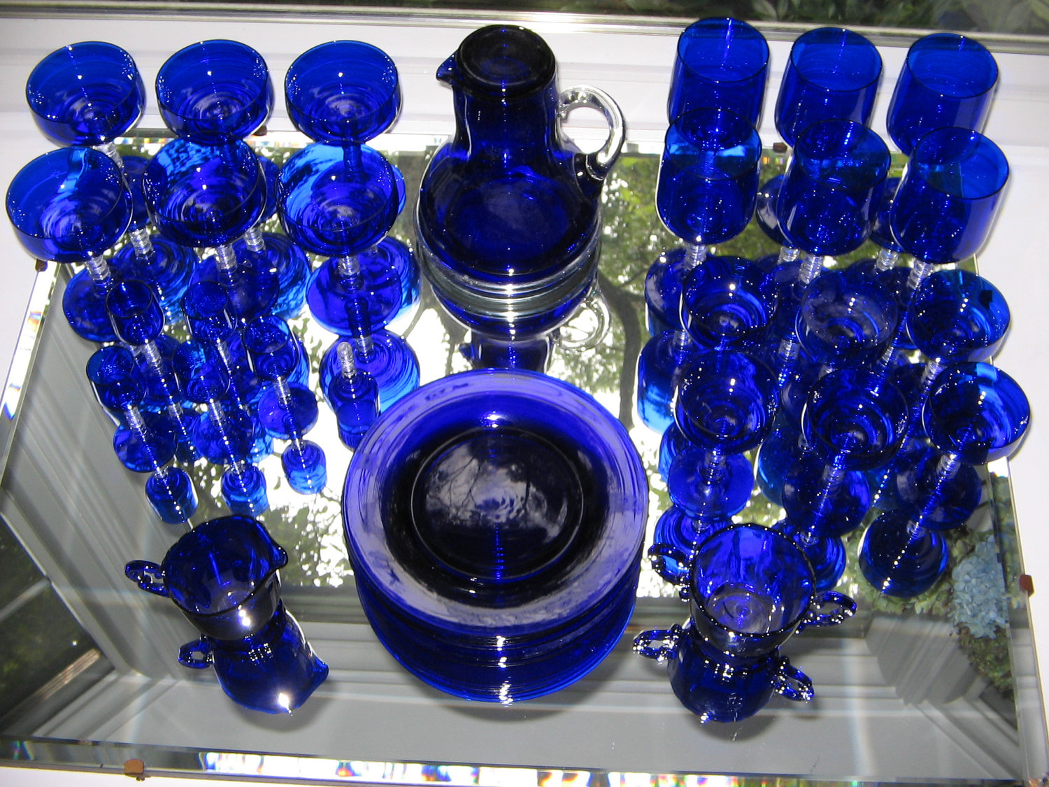 Brand new Blue Glass Dinnerware Sets - Glass Designs PE95