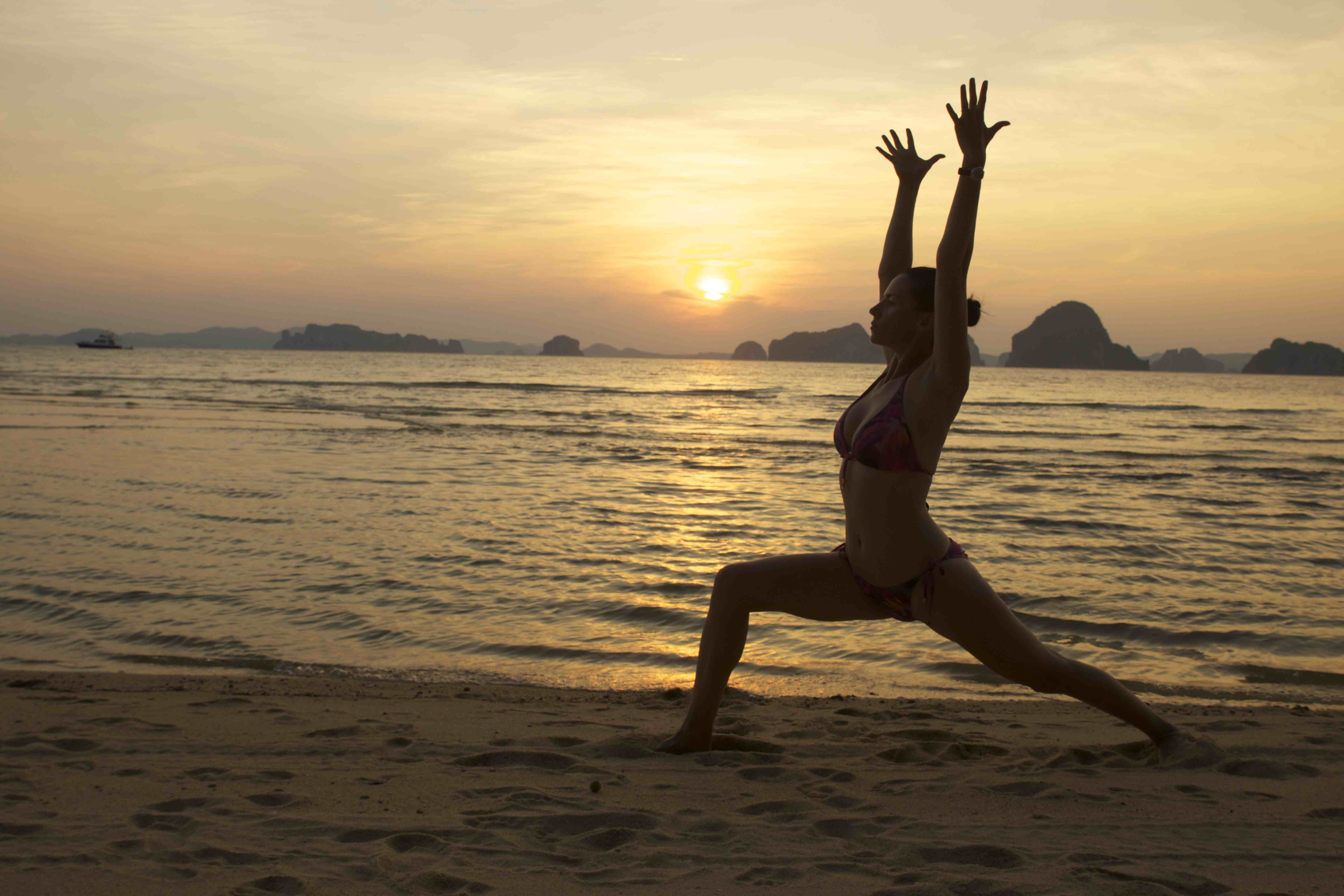 Yoga On The Beach Wallpapers High Quality | Download Free