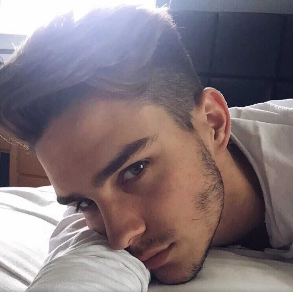 Young Beautiful Man Smiling Taking A Selfie Photo In