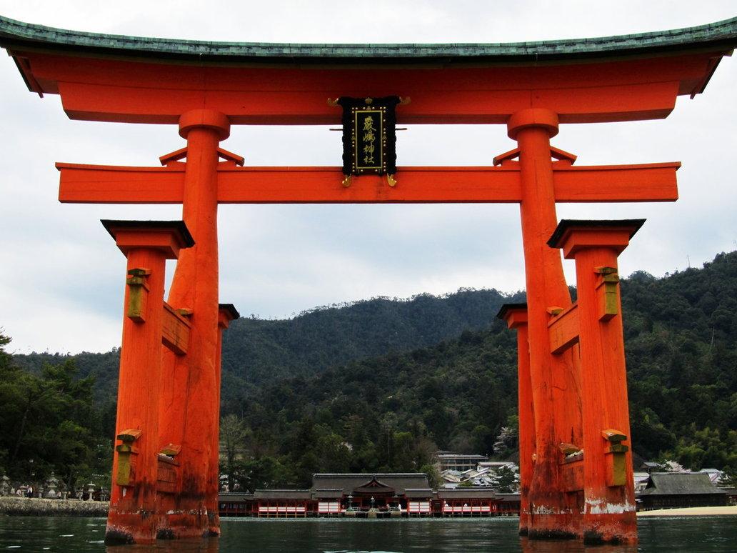 Японские ворота тории фото